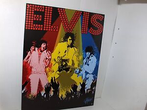 Elvis-The-King-In-Concert-On-Stage-Metal-Sign-Free-Shipping-To-US