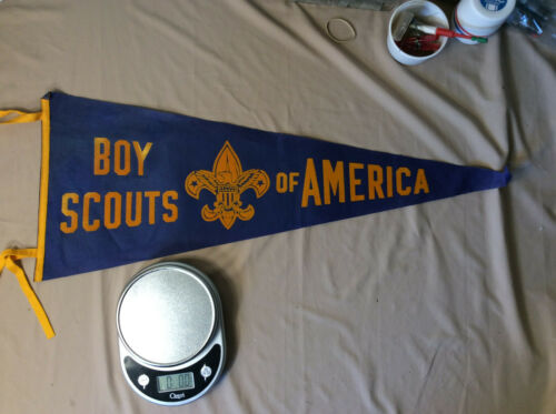 Vintage Pennant Boy Scouts of America Very Rare Excellent Color + Surprise bonus