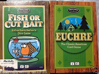2 Classic American Card Games  Euchre   Fish Or Cut Bait  Front Porch New Sealed