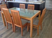BEAUTIFUL SOLID TIMBER 7 PIECE DINING TABLE Croydon Burwood Area Preview