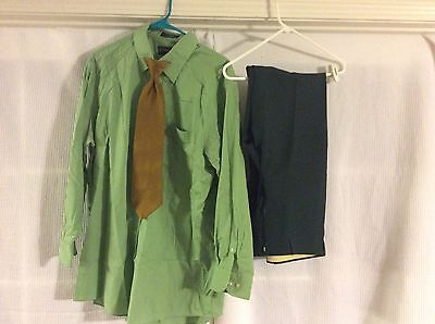 Vintage 60's/70's Tacky Men's Outfit Lt Green Shirt, Dk Green Pants, UGLY Tie](60s Outfits For Men)
