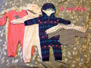 9 Month Girls *Warm clothes Lot