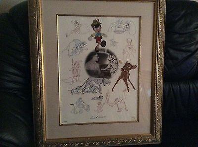 Disney Limited Edition K1 Art Celebrating Frank Thomas No 141 of 375-Signed