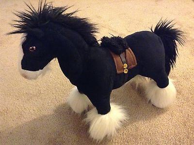 ANGUS Brave Plush Stuffed Toy Doll Disney Store Pixar Black Shire Horse Merida (Angus Brave)