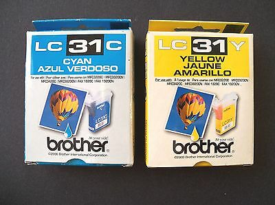 genuine lc31y lc31c yellow cyan printer ink