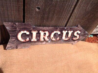 Directional Sign (Circus This Way To Arrow Sign Directional Novelty Metal 17