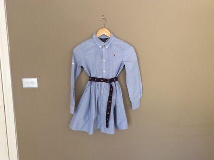 Classic Ralph Lauren girls shirt dress aged 12/10