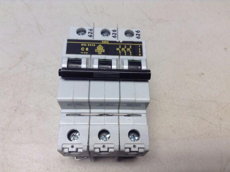 AEG Elfa E83S C6 3 Pole Circuit Breaker 6 Amp