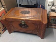 Art Deco Chinese style camphor wood chest. Baulkham Hills The Hills District Preview
