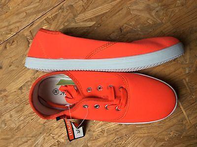 Orange Canvas Schuhe (Orange Turnschuhe Sneaker Schuhe Canvas Gr. 38 neu mit Etikett Nr.2)