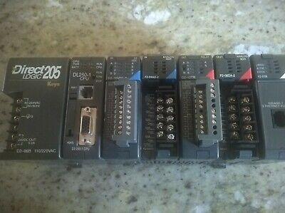 Direct Logic 205 Dl250-1 Cpud2-16nd3-2 F2-04ad-2 D2-12tr F2-08da-2 H2-erm