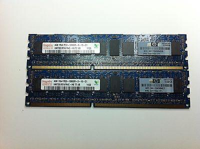 8GB HP DDR3-RAM 2X4GB/PC3-10600R/ECC 591750-171, 595096-001, 593911-B21 original