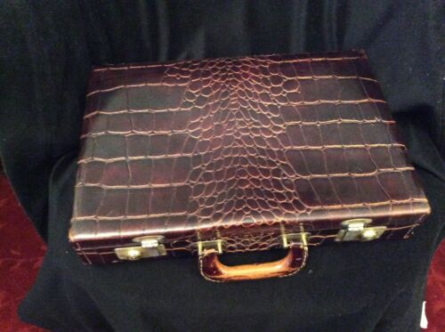 Vintage Homa Upjohn, leather Dr. bag w/ medical tools Roche, Propper, Atarax - 2
