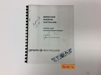 New Holland 488 Mower Conditioner 12-80 Service Parts Catalog