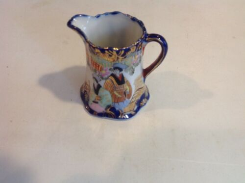 Antique Cream Pitcher Asian Japan Hand Painted