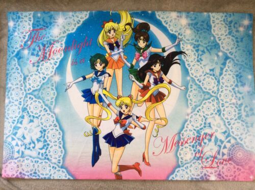 Sailor Moon Scouts Moon Stick 2 Pillowcase Set Rare Anime