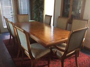 St. Albert, Elegant China Cabinet and Dining Table