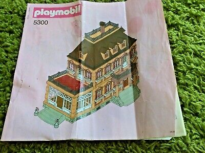 Playmobil Instruction Manual for 5300 Victorian Mansion Building Manual