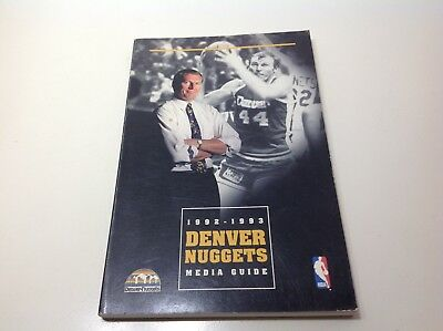 DENVER NUGGETS Basketball 1992-93 Media Guide