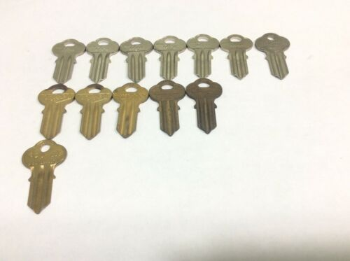 Chicago, esp and ilco brand key blanks, set of 13, locksmith