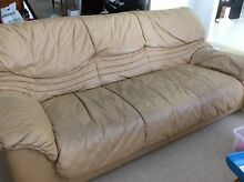 Used Leather Lounge 2 x 3 Seaters 1 x 1 Seater Mudgeeraba Gold Coast South Preview