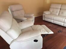 Leather lounge suite with recliners Rowville Knox Area Preview