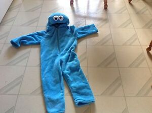 Child's Cookie Monster Costume Excellent Shape Fits 2.5 years to