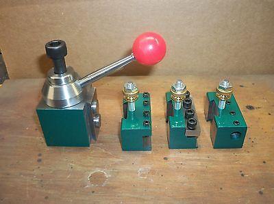 Quick Change Tool Post Mini Lathe 7x10 12 14 Steel 4 Piston