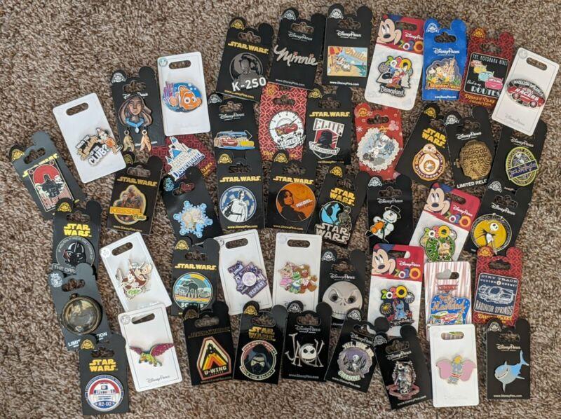 Disney Authentic 20 Random Pin Set All Brand New on Original Card $200 Value