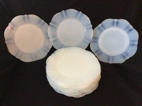 """AMERICAN SWEETHEART, Monax,Opalescent,MacBeth Evans 8"""" Salad Plate, 13 Available"""