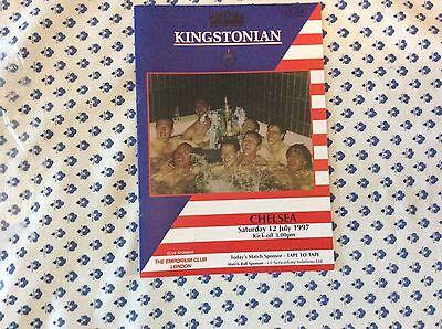 Kingstonian v Chelsea 1997-98 Friendly Programme