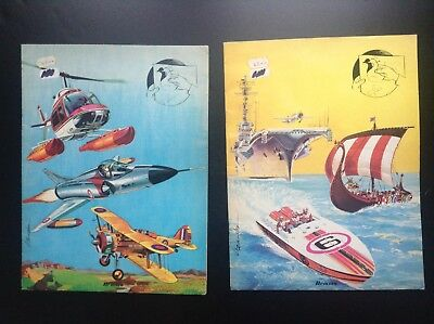 Lot de 2 Anciens livres autocollants à colorier Hemma Gonzales