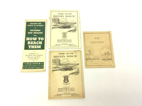 Mixed Vintage Lot Rhode Island Drivers Manuals 1941 1950 Points Interest Books