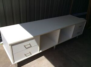 TV Unit white laminate Sebastopol Ballarat City Preview