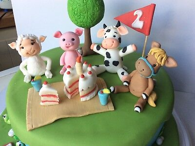 Edible Cake Toppers Farm Animals Boy Girll Birthday Baby Shower decorating