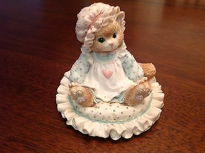 """Enesco Calico Kitten """"Just Thinking About You"""" Figurine"""