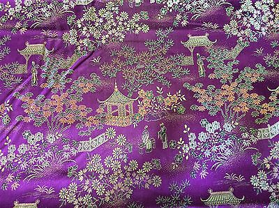 ORIENTAL PRINT DECORATOR FABRIC-28 INCH WIDE--BY THE YARD (Oriental Decorations)