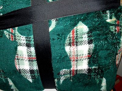 Christmas Green & Red Light Strands,Luxe Warm,Snuggly Throw Blanket.New`50 x 60 ()