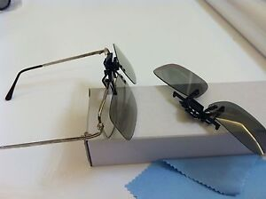 2 Pairs Clip-On Passive 3D Glass with Polarized Plastic Lenses for Vizio LG 3DTV