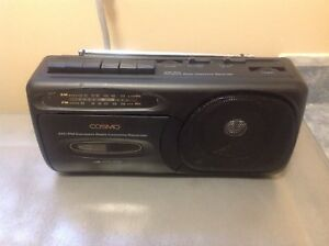 COSMO AM FM Radio Cassette  Recorder  Mini Boombox