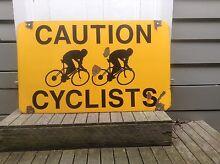 Vintage Enamel Caution Cyclist Sign Original Condition. Mitcham Whitehorse Area Preview