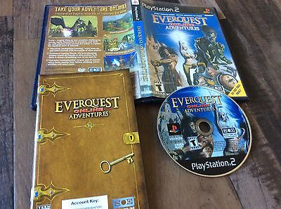 Everquest Online Adventures  Sony Playstation 2  2003  Used Free Us Shipping