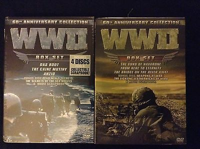 WWII 60th Anniversary Collectors Set- 2 sets with 4 discs each +scrap book ()