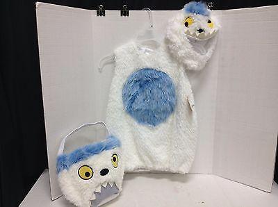 Pottery Barn Kids Halloween Abominable snowman yeti christmas Costume 4-6 - Yeti Kostüm Halloween