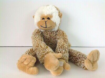 Long arm spider monkey plush soft brown white mane toy factory ()