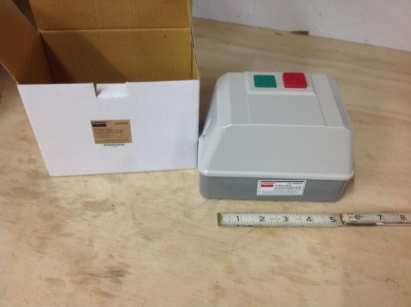Dayton 2UXV9 Pushbutton Starter Motor IEC Contactor, 240VAC, 18A, 3P. NIB