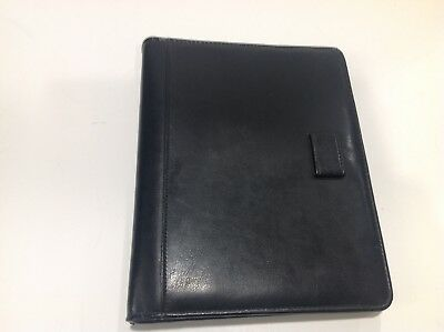 Classic Black Simulated Leather Day Planner 7 Ring Binder By Day-timer 1.125