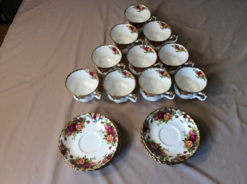 Royal Albert Old Country Roses Tea Cup Saucer Original Stamp Six (6) Available