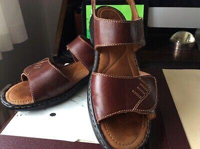 Josef Seibel dark tan sandals U.K. size 8