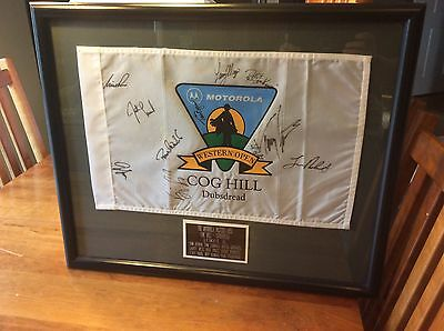 Motorola Western Open Pin Flag - 11 Autographs - Byron, Lehman, Leonard